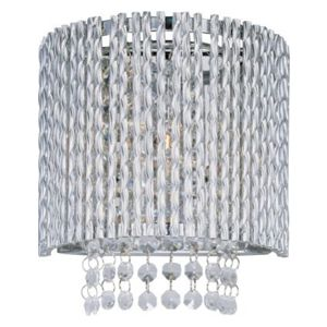 Spiral Chrome 1-light Wall Sconce