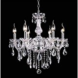 Chrome Crystal Candle Light Chandelier