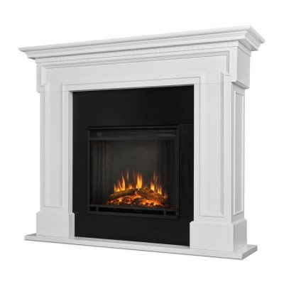 Real Flame Thayer White Finish Electric Fireplace