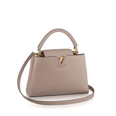"""Louis Vuitton """" Capucines PM """" color Galet"""