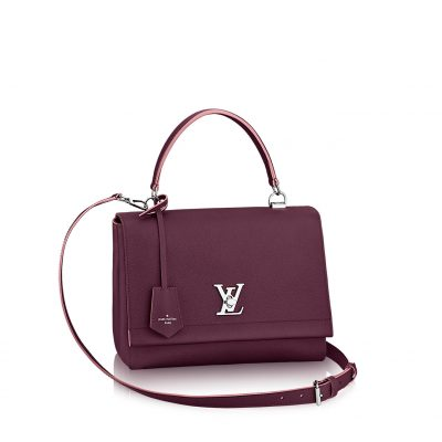 "Louis Vuitton "" LOCKME II "" Prune Rose Poudre"
